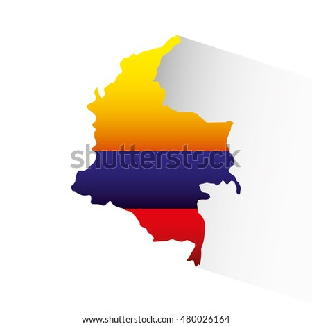colombian flag colorful icon vector illustration design