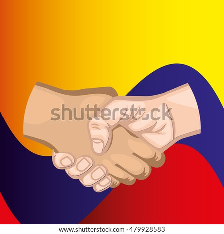 Colombian peace agreement symbol vector illustration design
