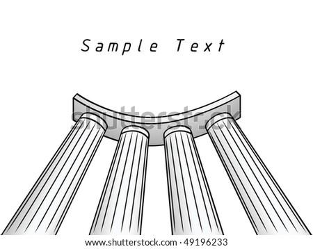 Colonnade.Drawing illustration - stock vector