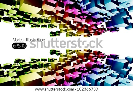 color abstract background, vector illustration