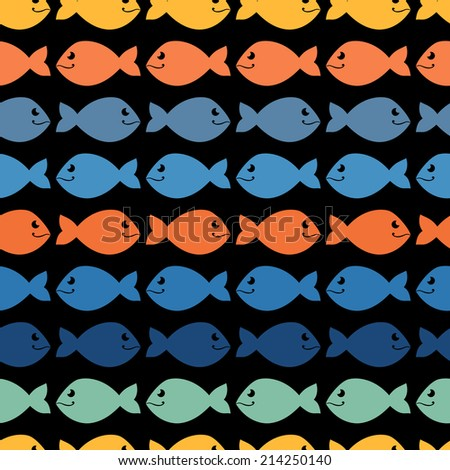 Color  abstract fish pattern.Background.Wallpaper