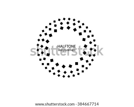 Color Abstract Halftone Logo Design Element, vector illustration - stock vector