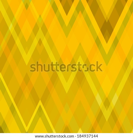Color Abstract Retro Vector Striped Background, Fashion Zigzag Pattern of Yellow Stripes - stock vector