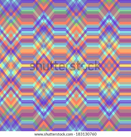 Color Abstract Retro Vector Striped Background, Fashion Zigzag Seamless Pattern of Multicolored Stripes - stock vector