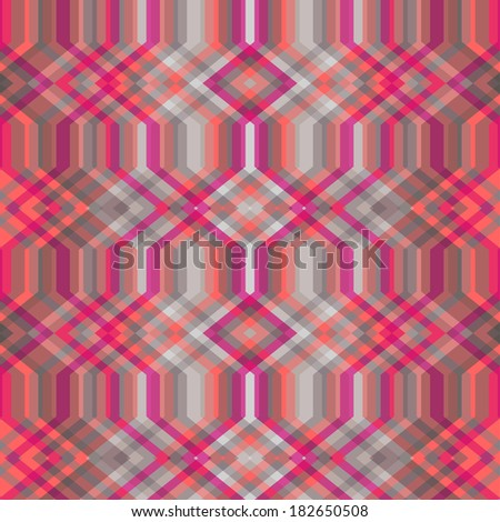 Color Abstract Retro Vector Striped Background, Fashion Zigzag Seamless Pattern of Pink and Gray Stripes - stock vector