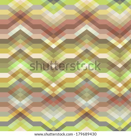 Color Abstract Retro Vector Striped Background, Fashion Zigzag Seamless Pattern of Yellow, Pink and Green Stripes - stock vector