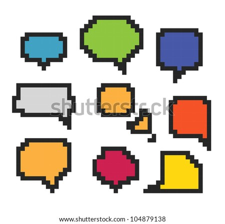 Color abstract speech clouds . Template for a text - stock vector