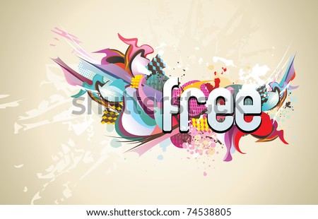 color abstract vector illustration