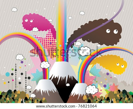 color abstract vector landscape vector