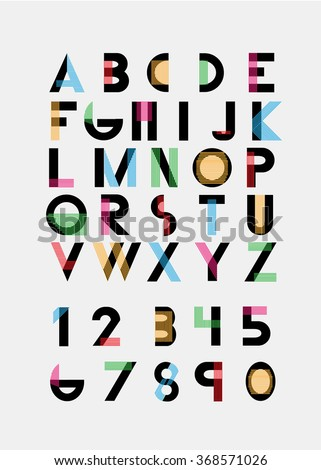 color alphabetic fonts numbers vector eps 10 stock photo photo rh shutterstock com