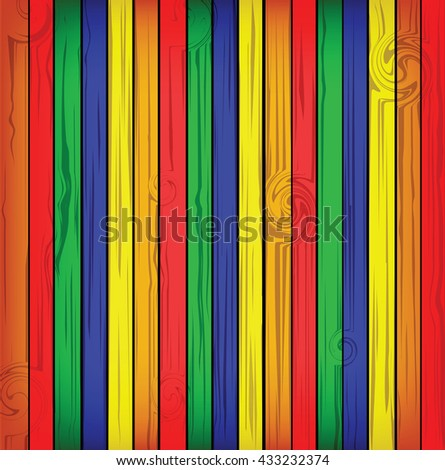 Color and wooden background