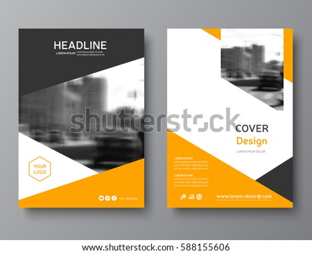 color annual report cover brochure template stock vector 588155606, Presentation templates