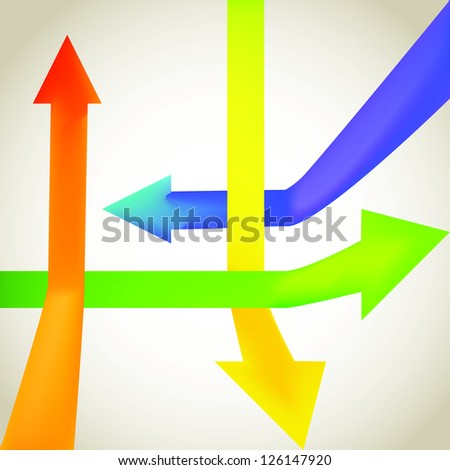 Color arrow going up and down - illustration