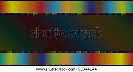 Color arrows on abstract color background