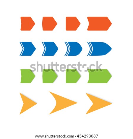color arrows set