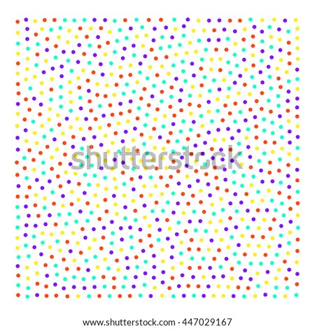 color background of many bright small circles. Stock vector illustration