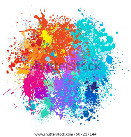 Paint Splatter Background Royalty Free Stock Photography