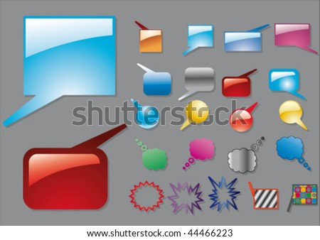 color baloons - stock vector