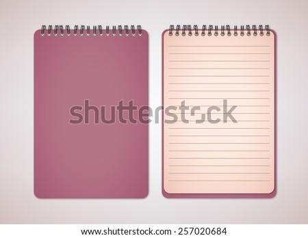 Color Blank Notebook Vector - stock vector
