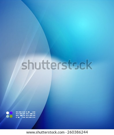 Color blue and light, waves and lines. Abstract background