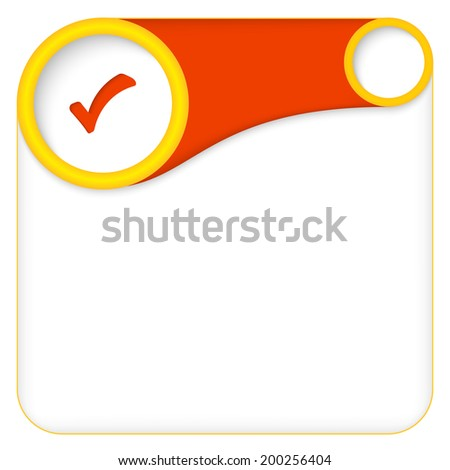 color box for entering text with check box - stock vector