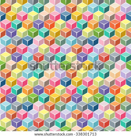 Color boxes. Kids seamless pattern.