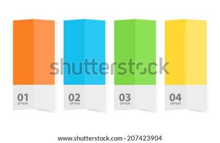 Color brochure template graphic illustration - stock vector