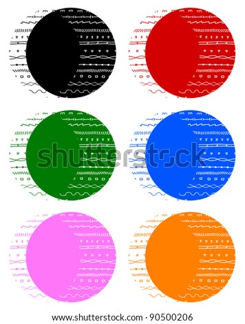 Color buttons icons
