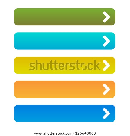 color buttons with arrow symbol #1 - stock vector