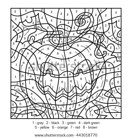 Color by number halloween pictures halloween coloring for Halloween coloring pages color by number