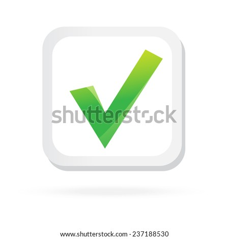 Color check box. Business element. Vector icon. Concept Illustration. Isolated Symbol