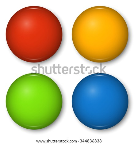 Color chest badges vector set isolated on white background. - stock vector