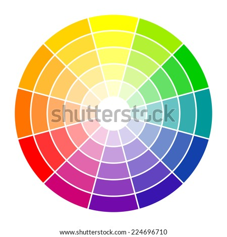 Color circle 12 colors - stock vector