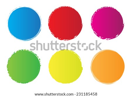 Color circle set.Grunge circles.Vector illustration.