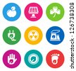color circular environmental icons isolated on white background.  EPS 10 vector illustration, contains NO transparencies - stock