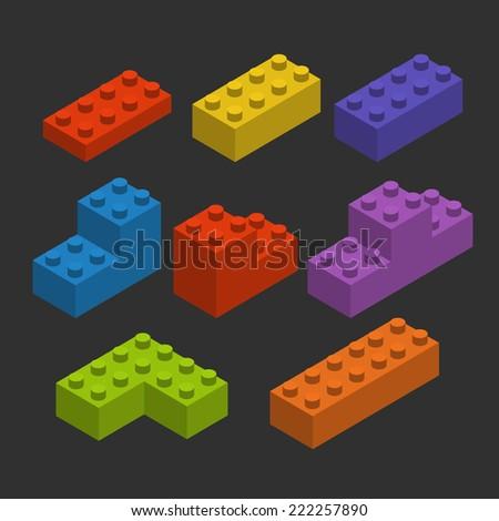 Color constructor blocks  - stock vector