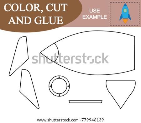 Color Cut Glue Create Image Space Stock Vector (2018) 779946139 ...