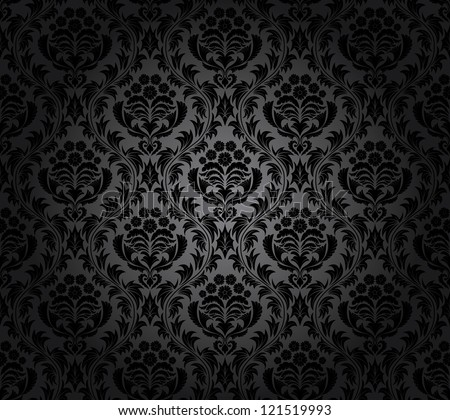 Color Damask Seamless Vector Pattern.  Elegant Design in Royal  Baroque Style Background Texture. Floral and Swirl Element.  Ideal for Textile Print and Wallpapers.