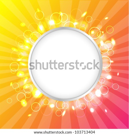 Color Design Template, Summer Poster, Vector Illustration - stock vector