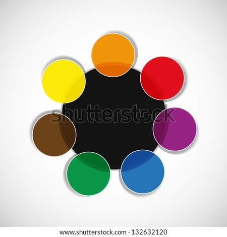 Color diagram / schema. Place for your text or number - stock vector