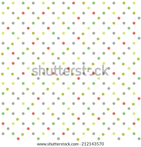 Color dots background. Seamless - stock vector