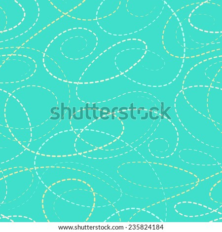 Color dotted lines curves seamless pattern - stock vector