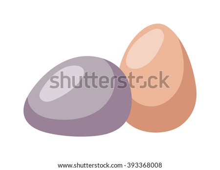Color easter egg cartoon spring decoration and food egg symbol flat illustration. Colorful easter egg traditional painted easter food, easter egg seasonal ornament. Easter holiday egg - stock vector