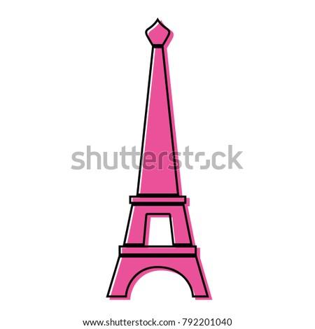 Color Eiffel Tower Paris Journey Vacation