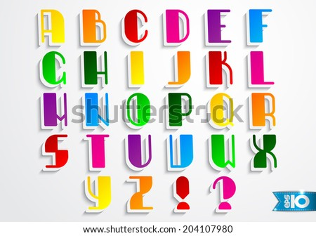 Color English alphabet on a gray background