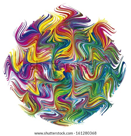 Color Explosion as symbol for a creative mind. Abstract vector image with 216 different bright and vivid colors - stock vector