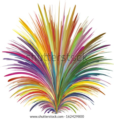 Color Explosion. Vector symbol for a creative mind with 216 different vivid and bright colors - stock vector