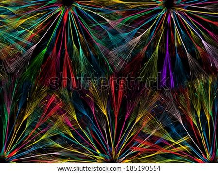 Color fantasy , abstract art design - stock vector