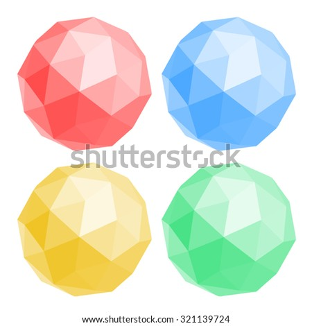 Color figures icons - stock vector
