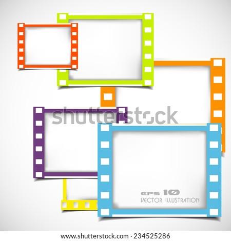 Color Films Frame Stock Vector 234525286 - Shutterstock